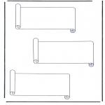 Diverse - 3 paper scrolls