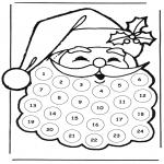 Jule-malesider - adventskalender kerstman