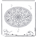Mandala-malesider - Animal geomandala 2