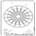 Mandala-malesider - Animal geomandala 4