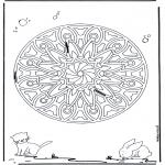 Mandala-malesider - Animal geomandala 6