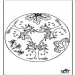 Mandala-malesider - Autumn mandala 1