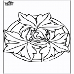 Mandala-malesider - Autumn mandala 2