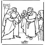 Bibel-malesider - Baby Jesus in the temple
