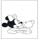 Børne-malesider - Baby Minnie
