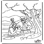 Bibel-malesider - Baptism Jesus