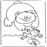 Dyre-malesider - Bear and frog