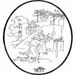 Bibel-malesider - Bibel prickingcard 1
