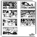 Bibel-malesider - Bible coloring page 2