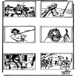 Bibel-malesider - Bible coloring page 4