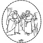 Bibel-malesider - Bible stitchingcard 1