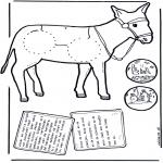 Bibel-malesider - Bijbelkleurplaat Jozef en Maria