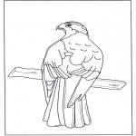 Dyre-malesider - Bird of prey in tree