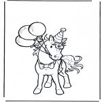 Dyre-malesider - Birthday horse