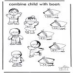 Håndarbejde - Boat and child