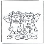Børne-malesider - Boy and girl