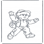 Børne-malesider - Boy with bag