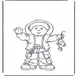 Børne-malesider - Boy with fish