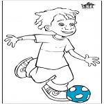 Diverse - Boy with football