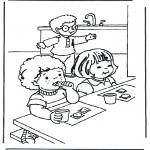 Børne-malesider - Breakfast