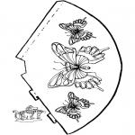 Håndarbejde - Butterfly - hat 2