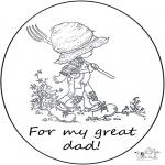 Håndarbejde - Card for daddy
