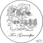 Håndarbejde - Card for grandpa