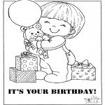 Håndarbejde - Card happy birthday 2