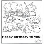 Håndarbejde - Card happy birthday 5