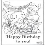 Håndarbejde - Card happy birthday 6