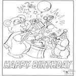 Håndarbejde - Card happy birthday 7