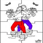 Tema-malesider - Carnaval puzzel