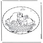 Sy-kort - Cartoon stitchingcard 4