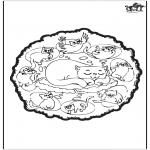 Mandala-malesider - Cats mandala