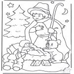 Jule-malesider - Child in manger