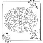Mandala-malesider - Children geomandala 1