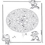 Mandala-malesider - Children geomandala 3