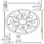 Mandala-malesider - Children mandala 1