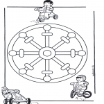 Mandala-malesider - Children mandala 11