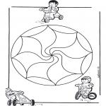 Mandala-malesider - Children mandala 14