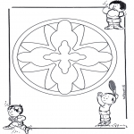 Mandala-malesider - Children mandala 16