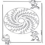 Mandala-malesider - Children mandala 18