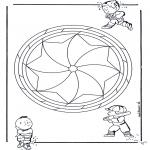 Mandala-malesider - Children mandala 19