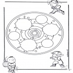 Mandala-malesider - Children mandala 24
