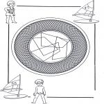 Mandala-malesider - Children mandala 25