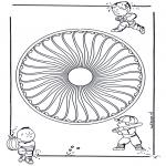 Mandala-malesider - Children mandala 26