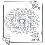 Mandala-malesider - Children mandala 27