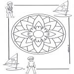 Mandala-malesider - Children mandala 5