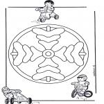 Mandala-malesider - Children mandala 8