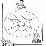 Mandala-malesider - Children mandala 9